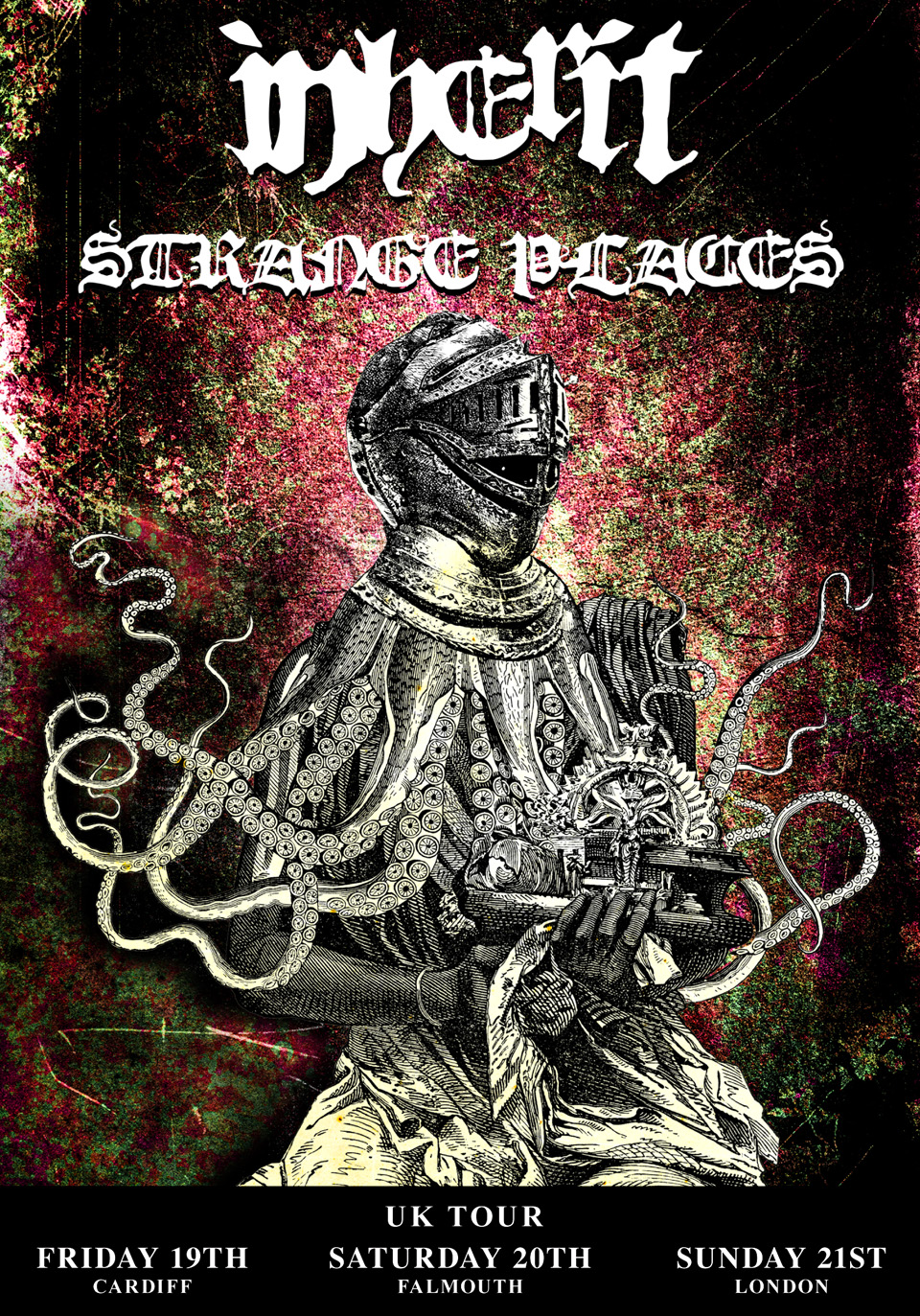 Inherit and Strange Places Tour Poster Design