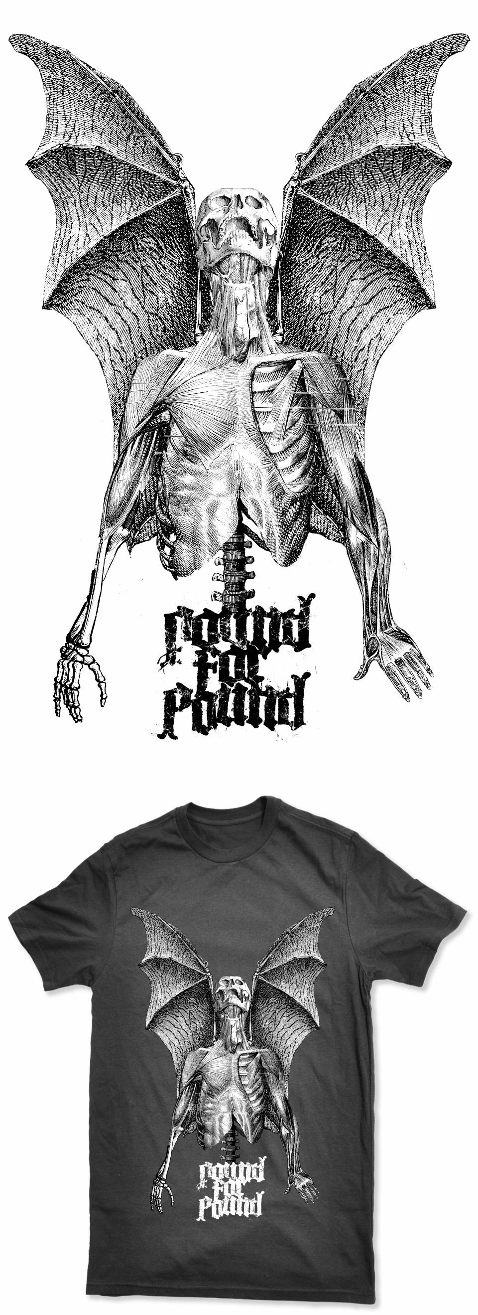 Pound For Pound Shirt Design Detail